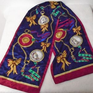 Silk Pocket Watch and Bows Scarf (M)